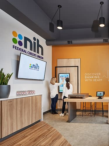 NIH Federal Credit Union Branch Lobby Interactive Display