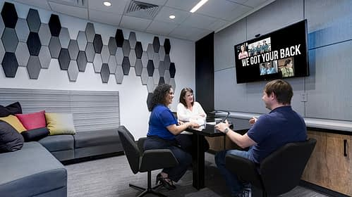 HAPO Credit Union acoustic meeting room - Project Earned WELL Certification