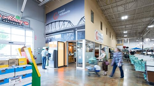 Central Willamette Credit Union - Grocery Store Branch Design Build Project