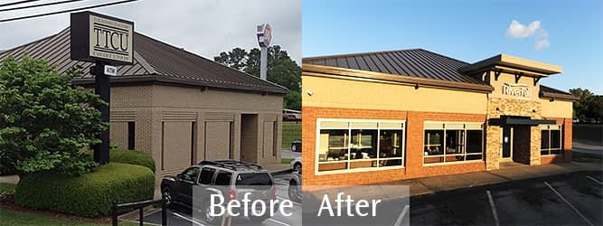 RiverFall Credit Union Northport Branch Transformation exterior